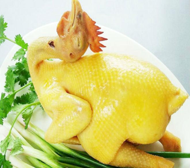 Món gà hấp cách thủy