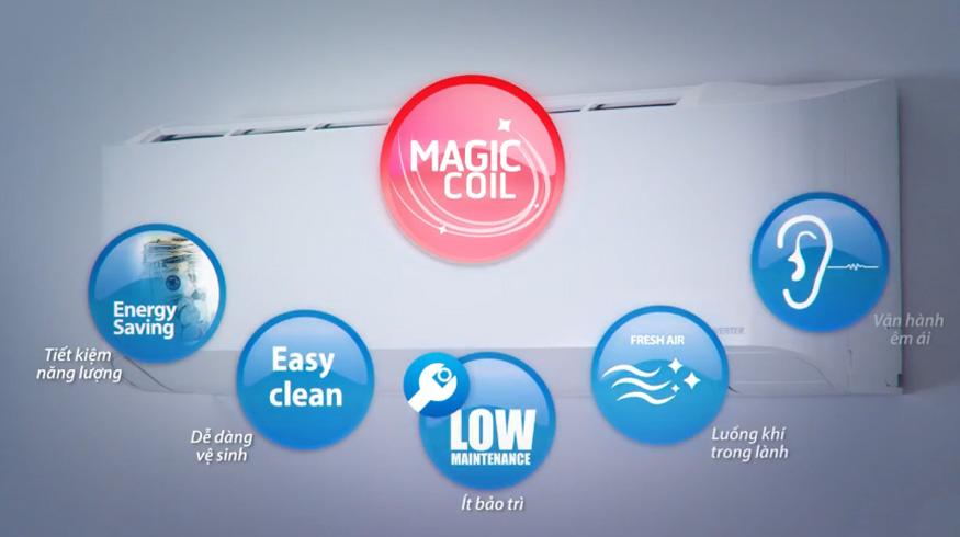 Cải tiến công nghệ chống bám bẩn Magic Coil
