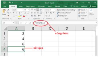 Ví dụ hàm max