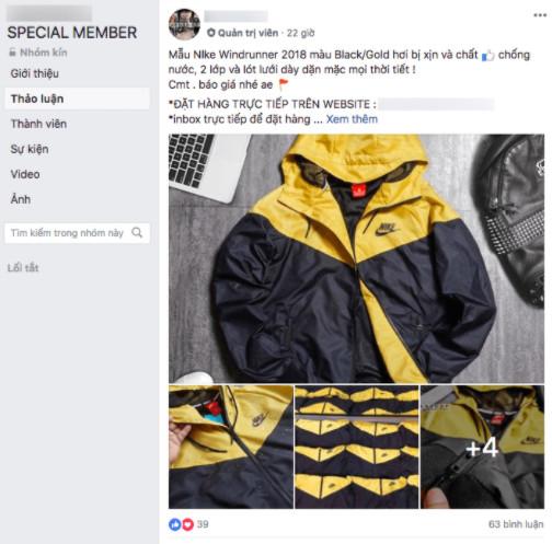 Cửa hàng thời trang trên group Facebook