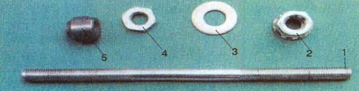 Cụm trục xe đạp sau khi tháo