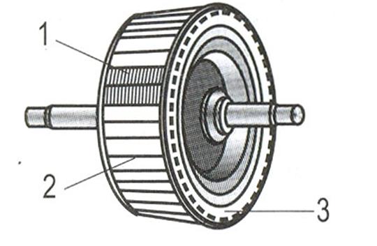 Cấu tạo rôto của động cơ điện một pha.
