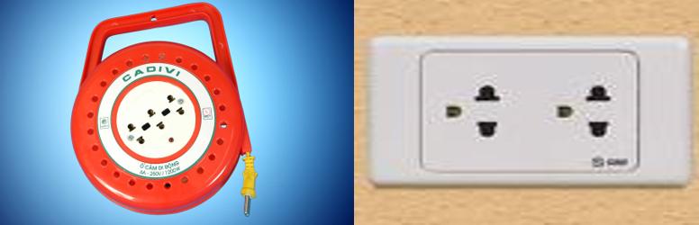 Một số ổ cắm điện thường dùng