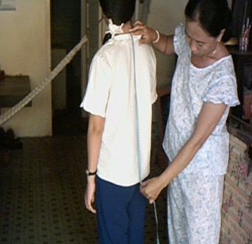 Cách đo may áo tay liền thực tế