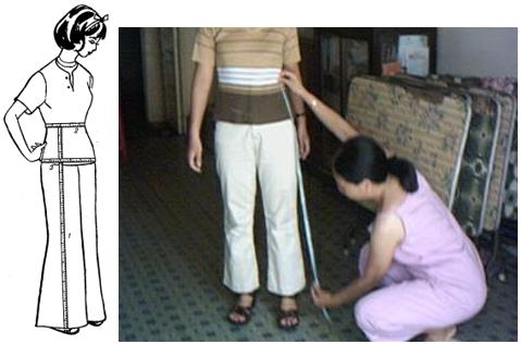Cách đo quần dài