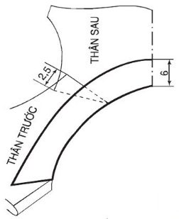 Cách vẽ bâu lá sen tim dạng nằm