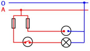 Sơ đồ nguyên lí mạch điện bảng điện