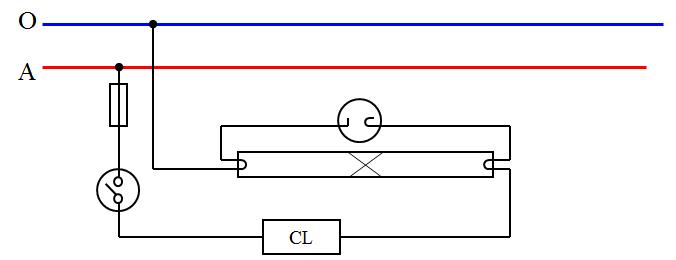 Sơ đồ nguyên lí mạch điện đèn ống huỳnh quang