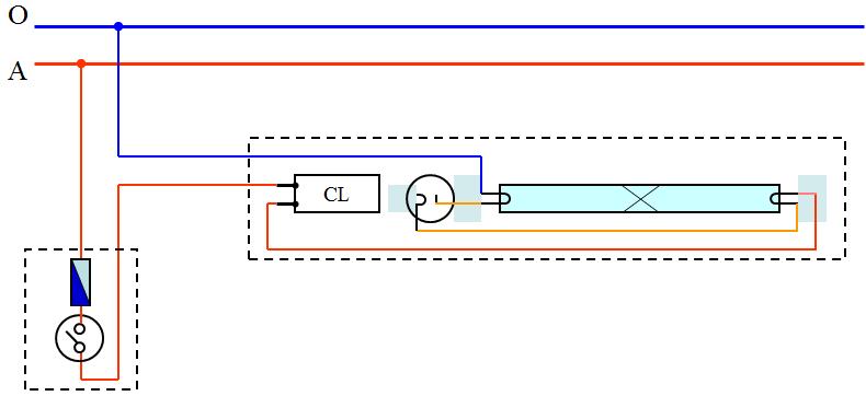 Vẽ đường dây dẫn điện theo sơ đồ nguyên lí