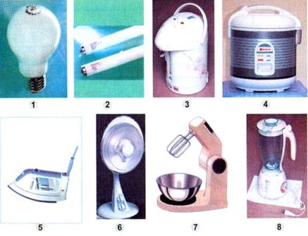 Một số đồ dụng điện trong nhà