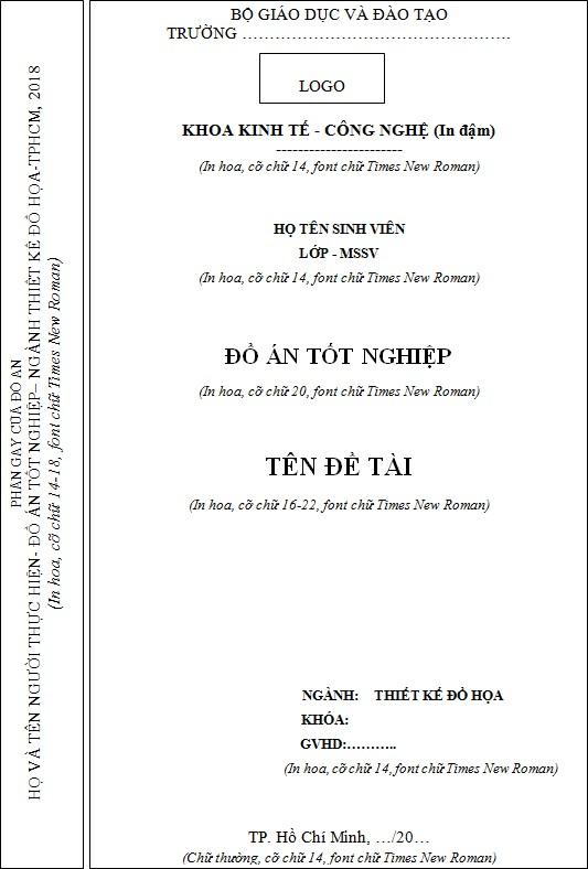 Mẫu bìa đồ án ngành Đồ họa