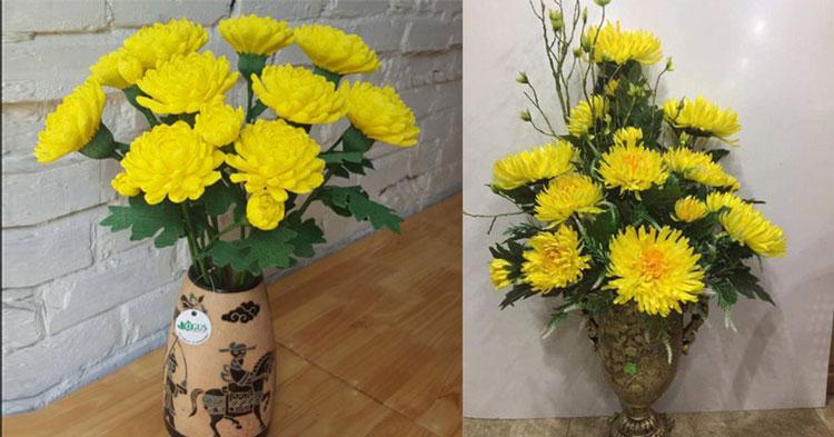 Cách cắm hoa cúc
