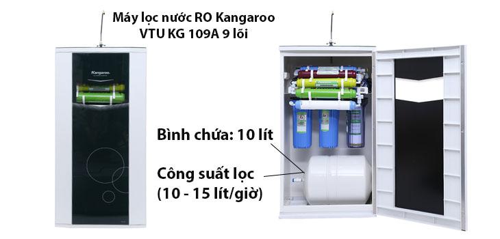 Dung tích bình chứa trong máy lọc nước ro