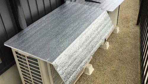 Che phủ giàn nóng bằng tấm bạc cách nhiệt