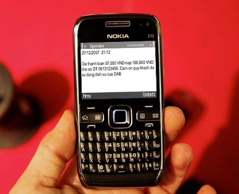 Cú pháp sử dụng SMS Banking Đông Á