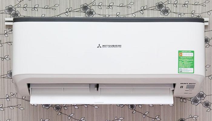 Một mẫu máy lạnh Mitsushibi có trang bị chế độ hẹn giờ