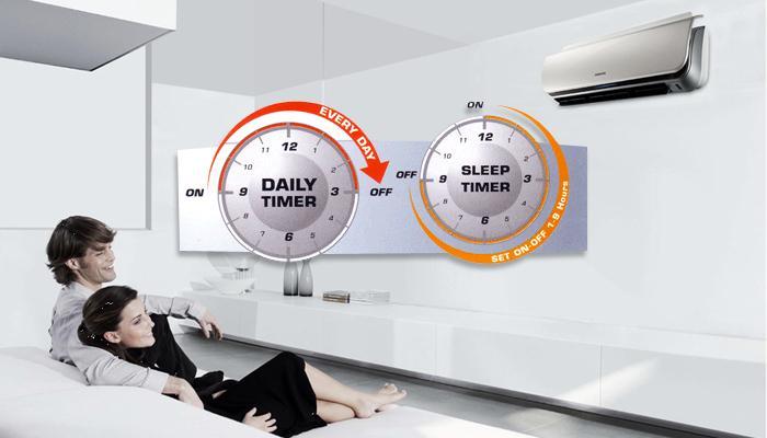 Chế độ hẹn giờ giúp bạn thoải mái hơn