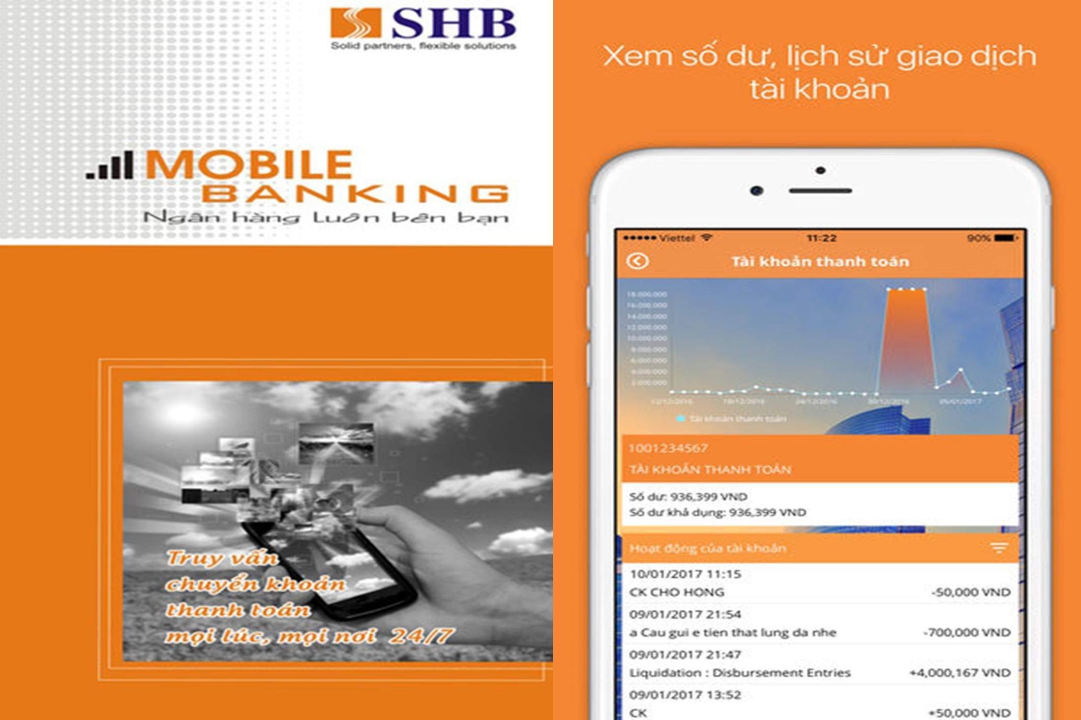 Giới thiệu ứng dụng của Mobile Banking SHB