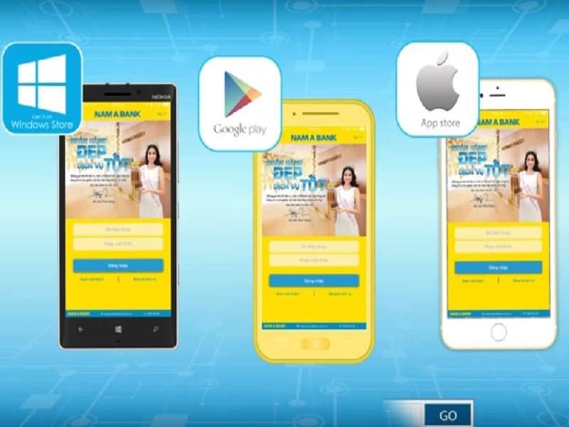 Mobile Banking Nam A Bank có thể sử dụng trên mọi thiết bị thông minh