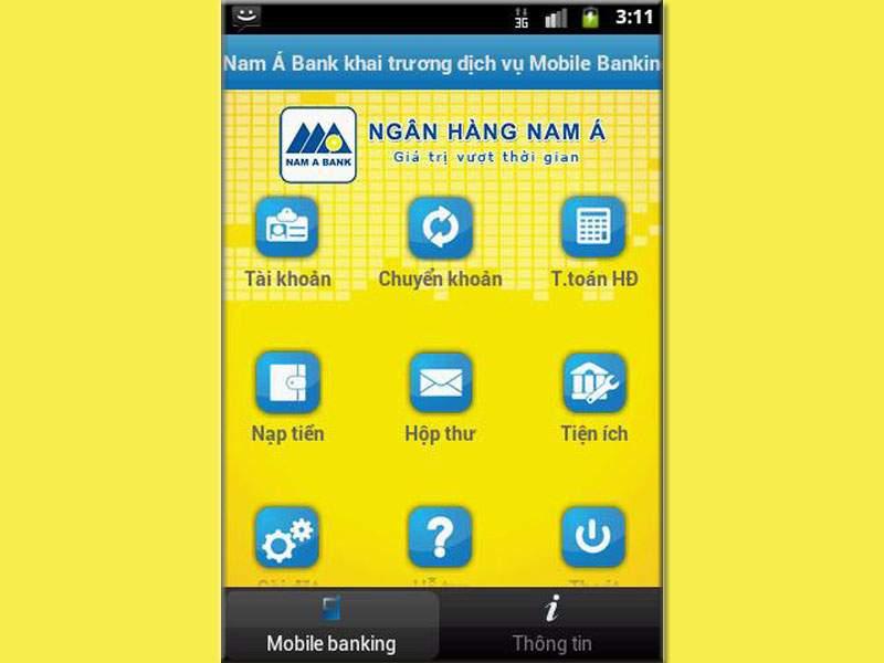 Cách đăng ký Mobile Banking Nam A Bank