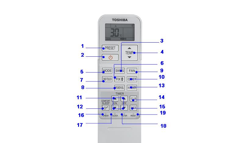 Remote điều hòa Toshiba RAS-H10ZKCV-V