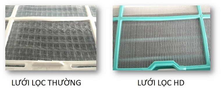 Loại bỏ lên đến 50% bụi bẩn trong không khí với lưới lọc HD