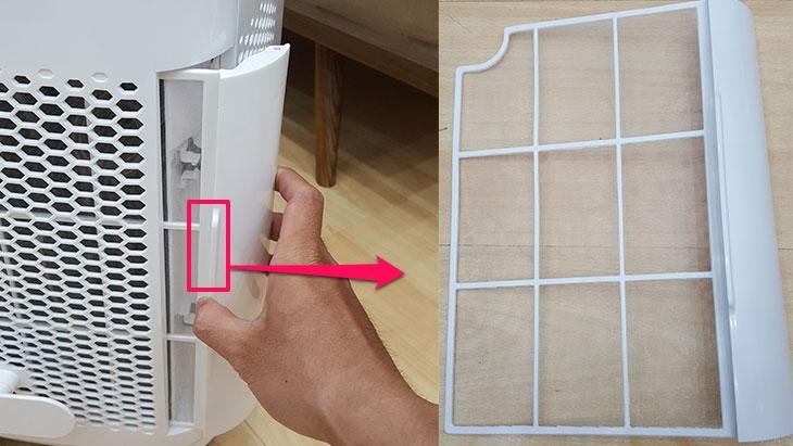 Cách vệ sinh lưới lọc máy lạnh di động mini Midea