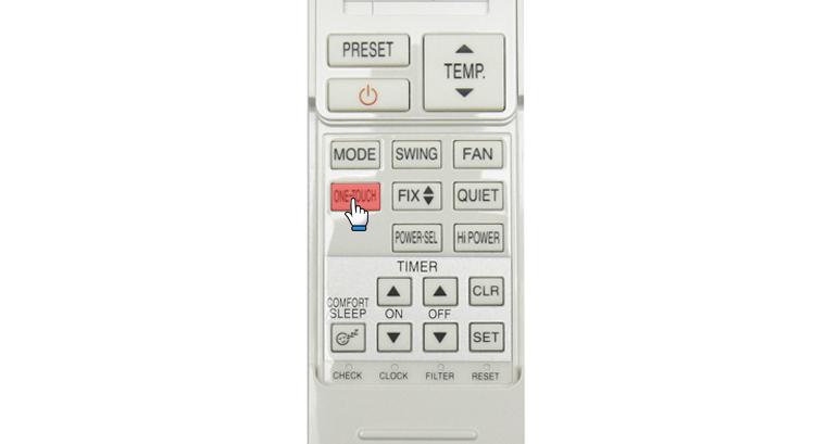 Bấm Nút One-Touch để mở chức năng một lần chạm.