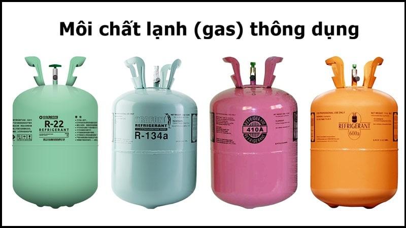 Những loại gas thường dùng khi nạp gas máy lạnh