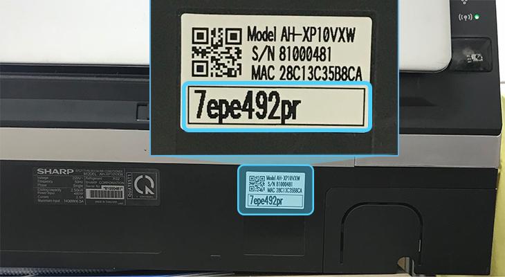 Mật khẩu - Máy lạnh Sharp Inverter Wifi 1 HP AH-XP10VXW