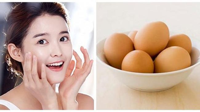 Da trắng mịn khi sử dụng mặt nạ trứng gà