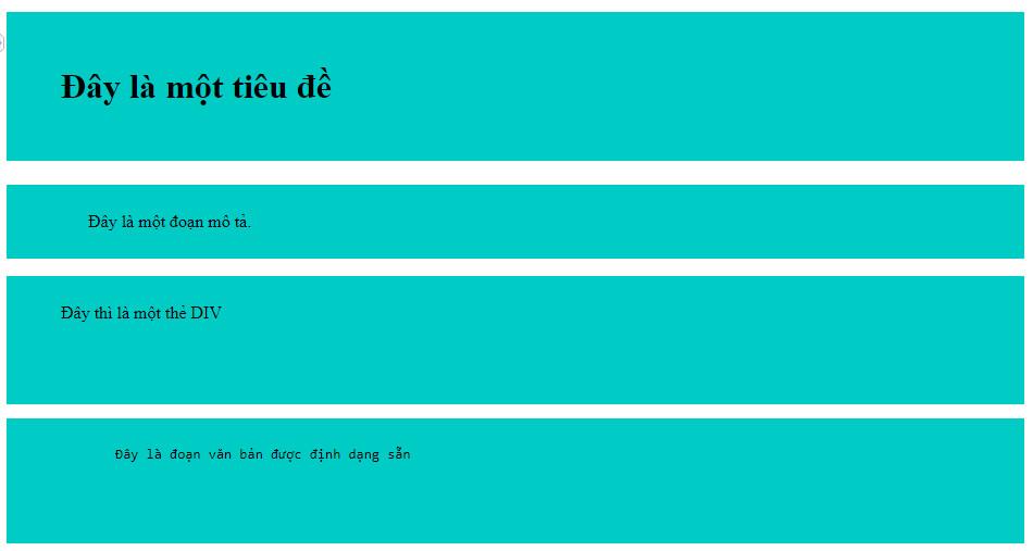 Ví dụ thiết lập padding trong CSS