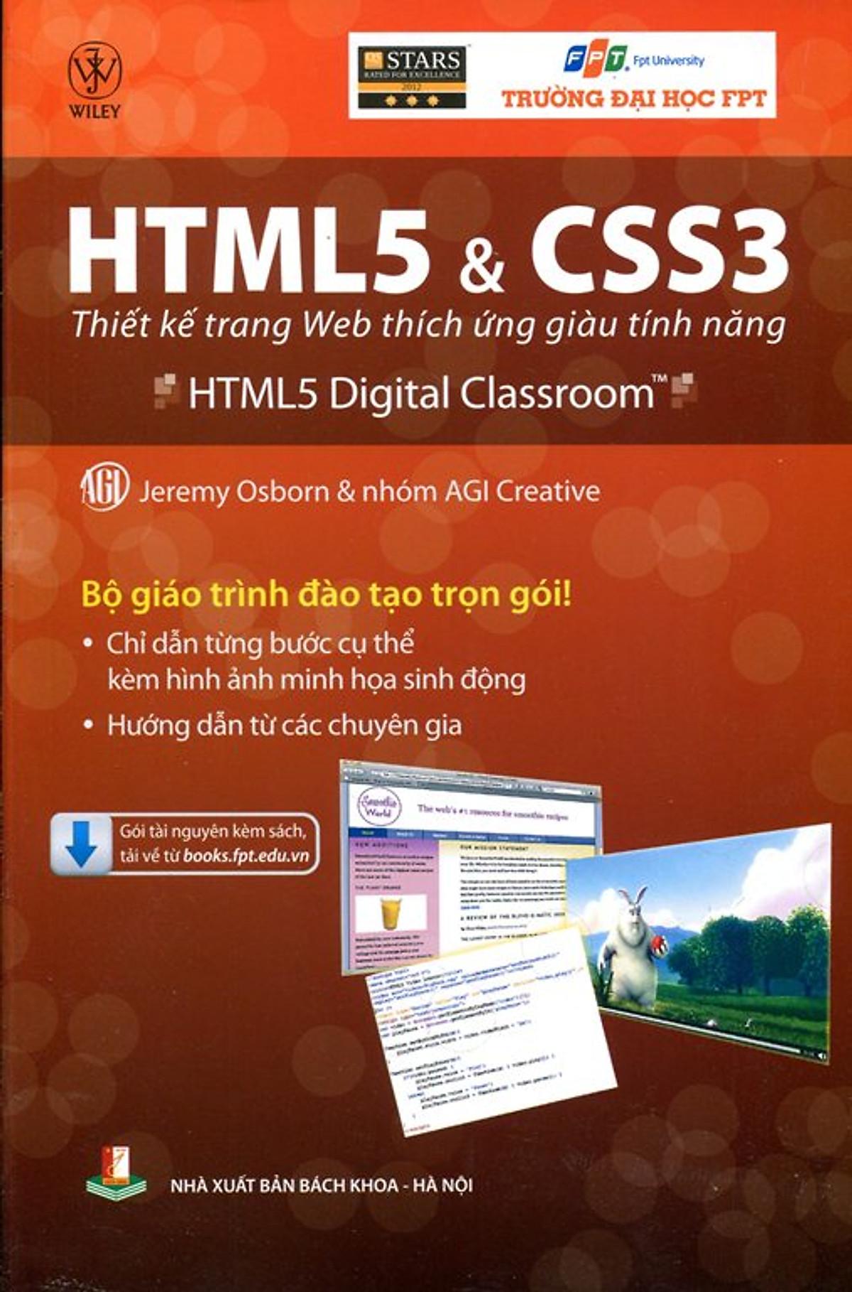 HTML5 Và CSS3: Thiết Kế Trang Web Thích Ứng Giàu Tính Năng – Jermy Osborn & Nhóm AGI Creative