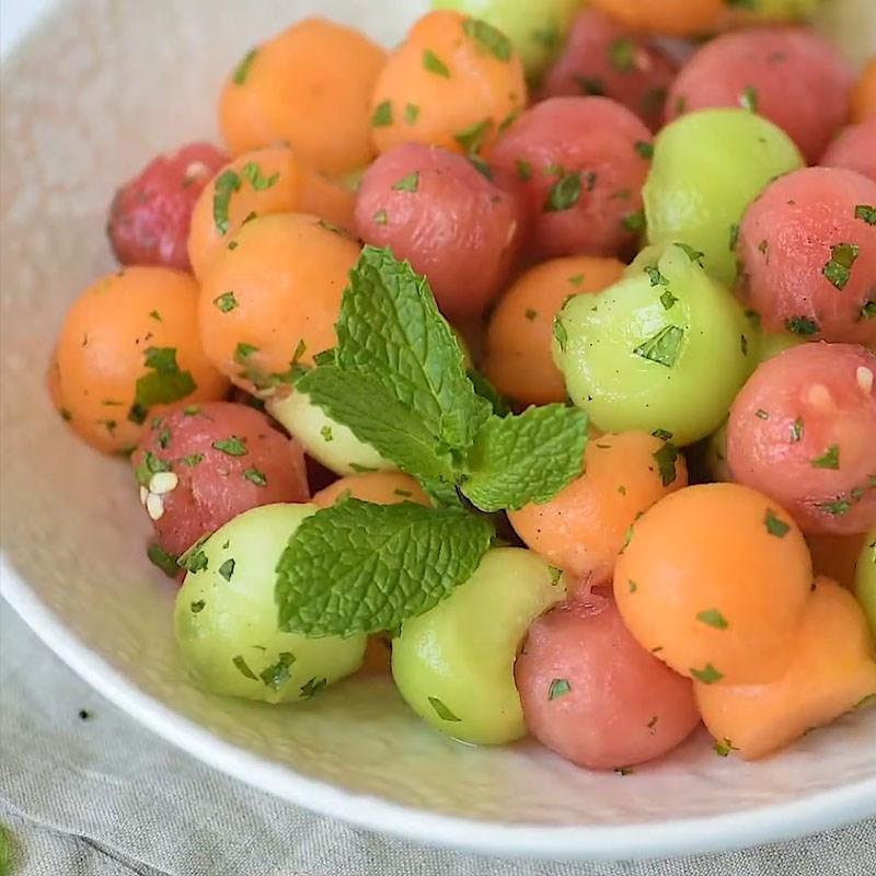 Salad dưa lưới 3 màu