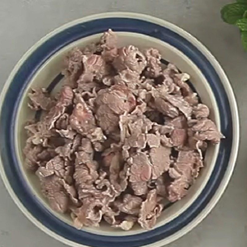 Thịt bò sau khi sơ chế