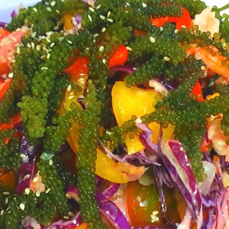 Salad rong nho thịt xông khói