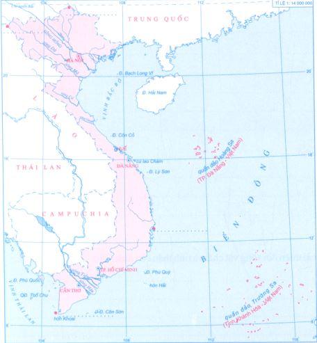 Lược đồ một số cảng biển, sân bay và các di sản thế giới
