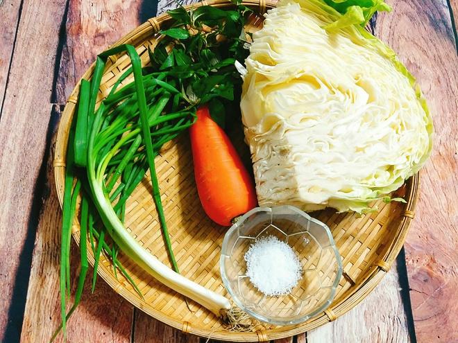 Nguyên liệu dưa bắp cải muối chua