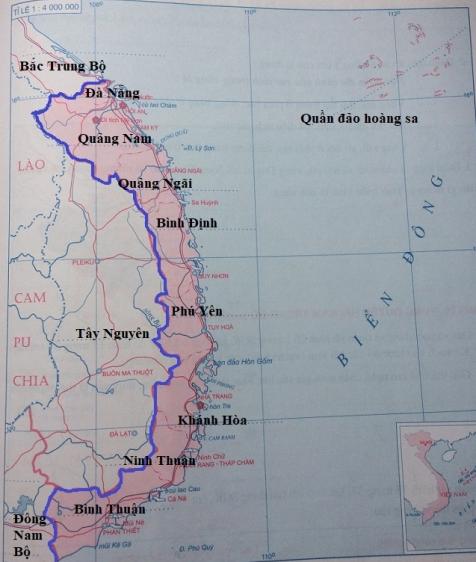 Lược đồ duyên hải Nam Trung Bộ