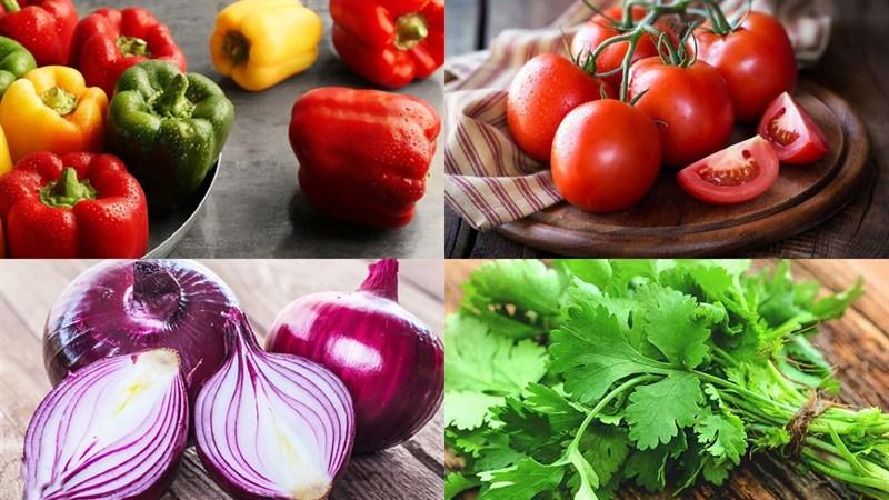 Một số nguyên liệu làm salad rau củ