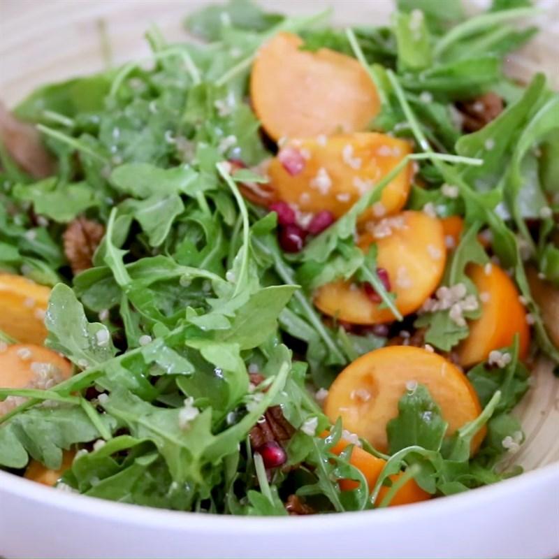 Thành phẩm món salad hồng giòn