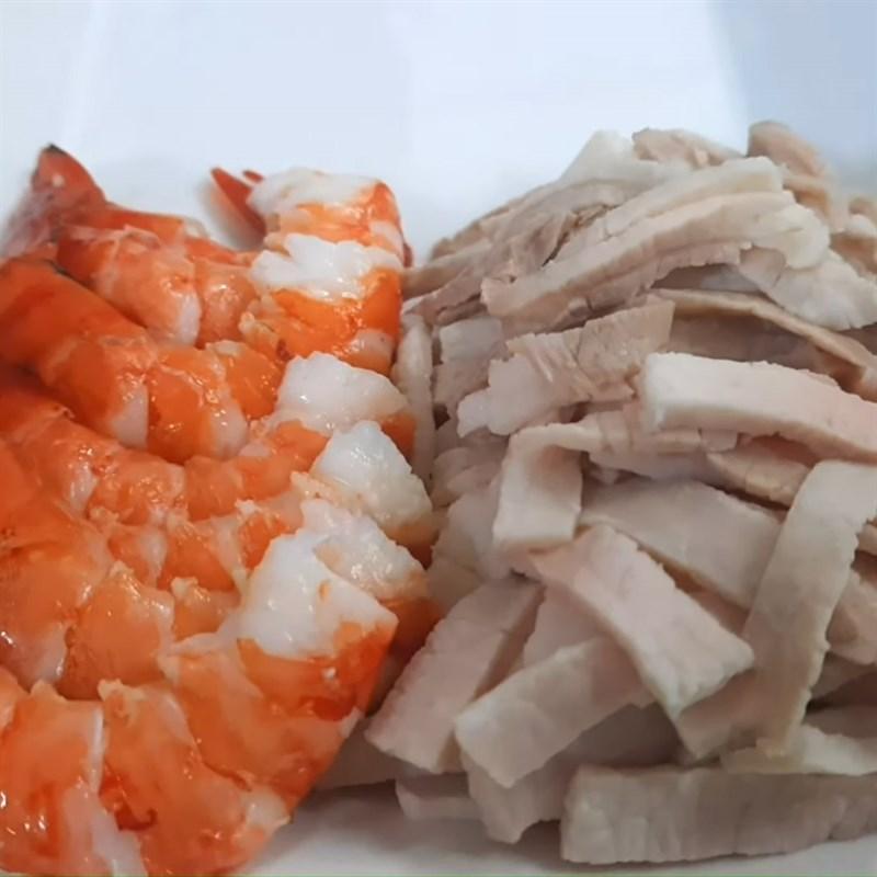 Luộc tôm và thịt