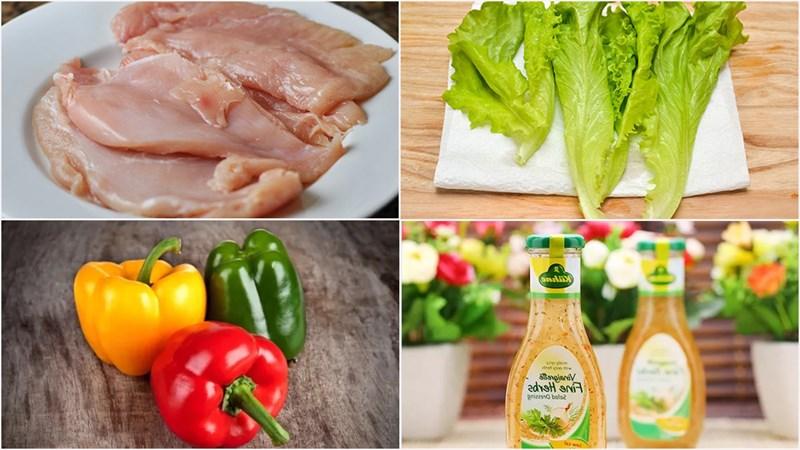 Một số nguyên liệu làm salad ớt chuông ngon