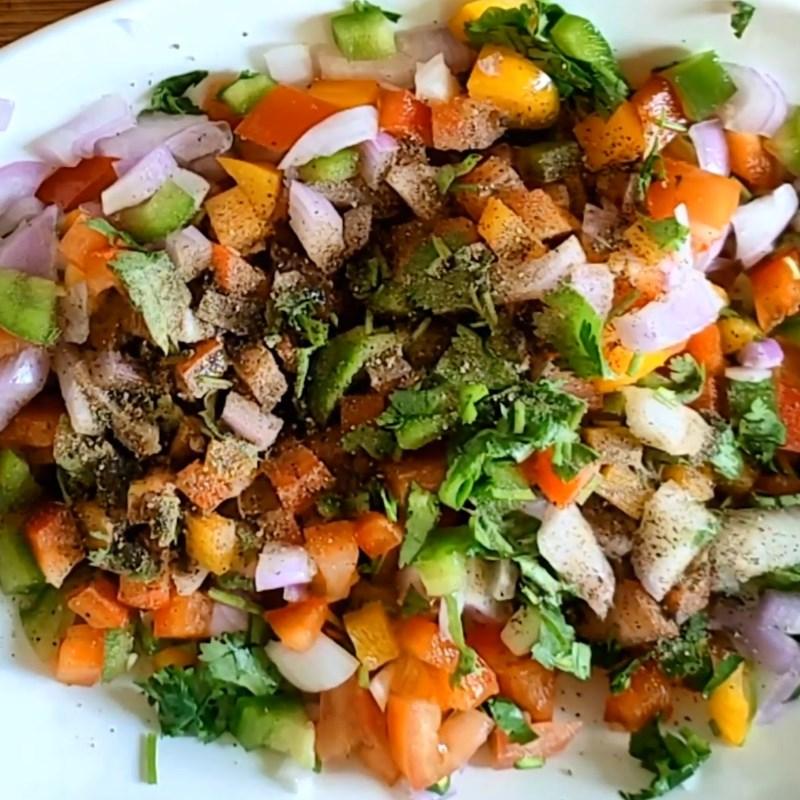 Thành phẩm món salad rau rủ