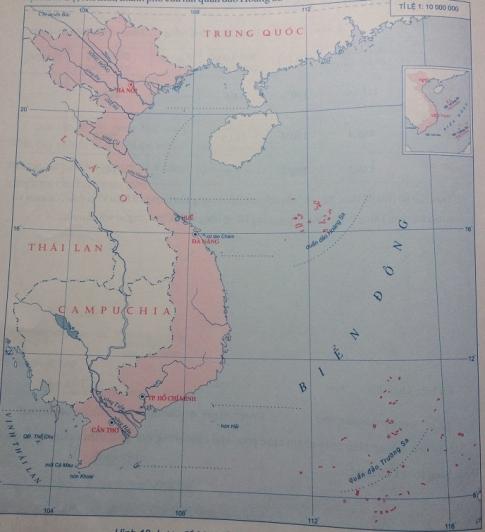 Lược đồ một số đảo và quần đảo Việt Nam