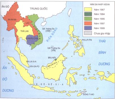 Lược đồ các nước Đông Nam Á