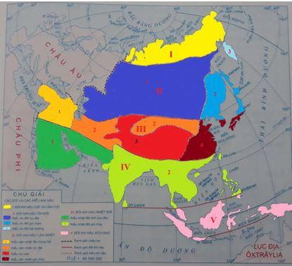 Lược đồ khí hậu châu Á