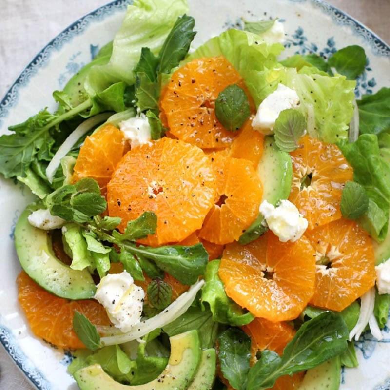 Thành phẩm món salad quýt bơ