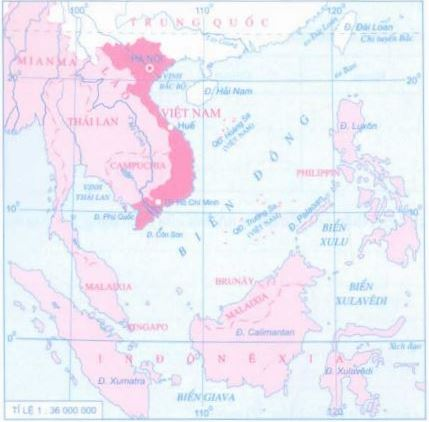 Lược đồ khu vực Biển Đông