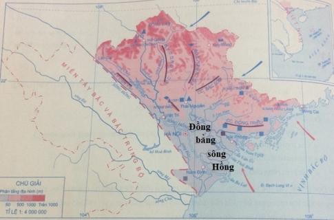 Lược đồ Địa hình và khoáng sản miền Bắc và Đông Bắc Bộ